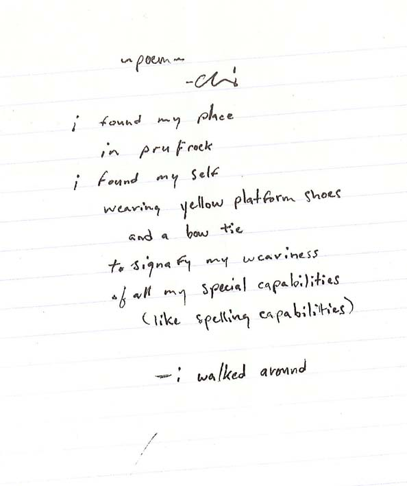 Chris' poem